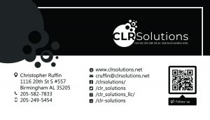 CLR Solutions Business Card