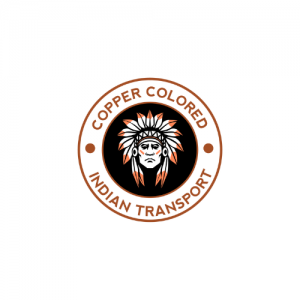 Copper Colored Indian Transport Logo