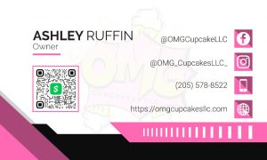 OMG Cupcakes Business Cards